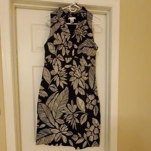 Sleeveless Floral Dress